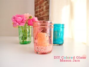 Mason Jar Candles and Flowers