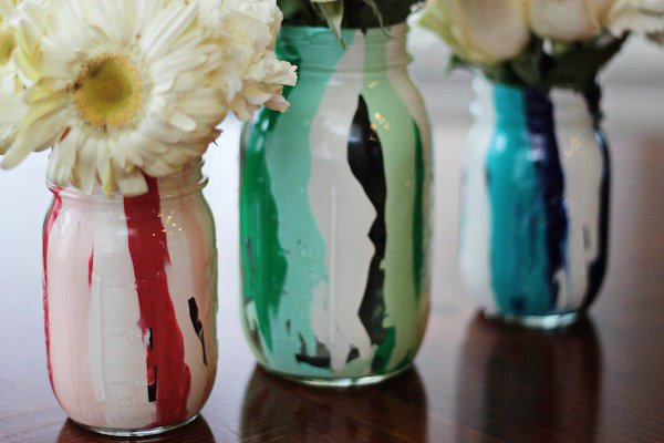 mason jars painted