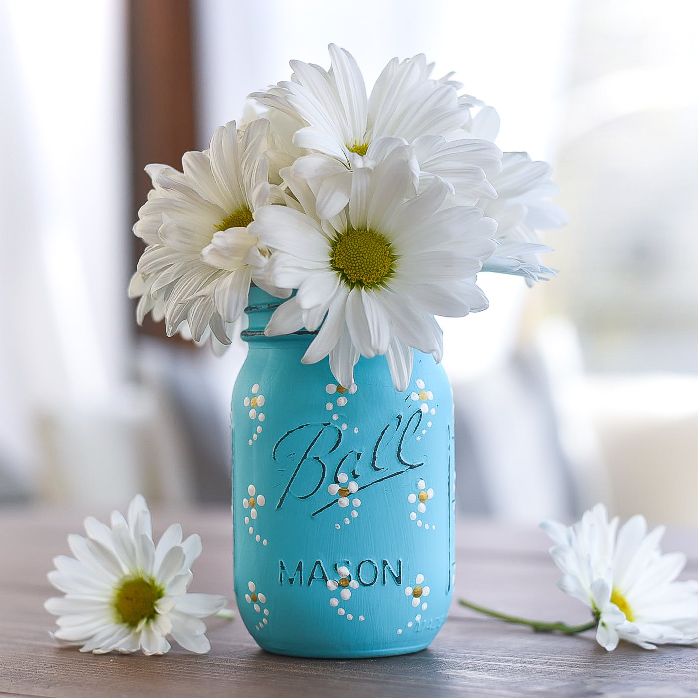 mason jars painted - photo #32