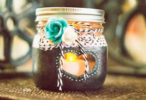 Painted Mason Jar Candle