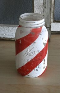 Painted Mason Jar Christmas