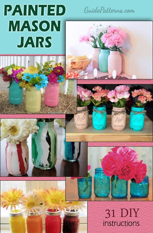 Painted Mason Jars Ideas