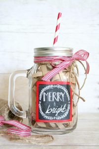 Painted Mason Jar with Handle
