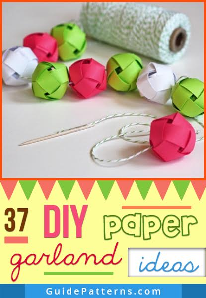 37 diy paper garland ideas