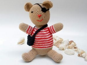Pirate Crochet Teddy Bear