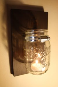 Rustic Mason Jar Candle Holder