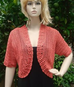 Short Sleeve Crochet Shrug