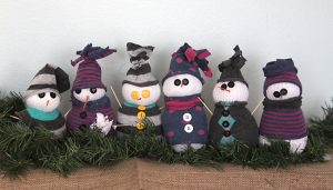 Snowmen Sock Craft
