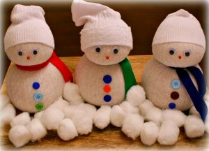 Sock Snowmen Craft