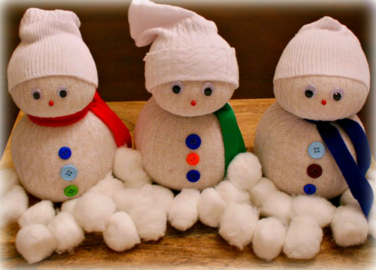 19 sock snowman diy crafts guide patterns for Holiday project