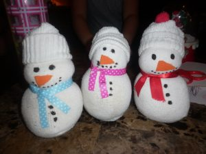 Sock Snowmen Instructions