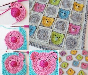 Teddy Bear Blanket Crochet Pattern