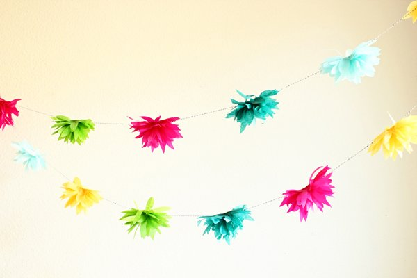 37 diy paper garland ideas guide patterns tissue paper flower garland mightylinksfo