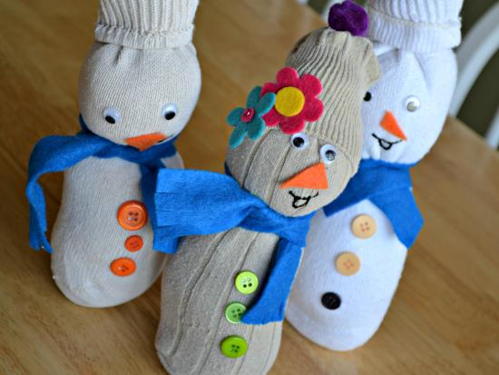 craft ideas with household items 19 sock snowman diy crafts guide patterns 6327