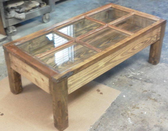 Window Shadow Box Coffee Table