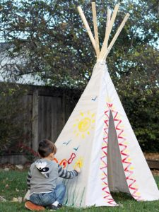 Backyard DIY Teepee