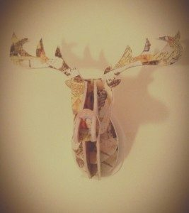 Cardboard Deer Head Taxidermy