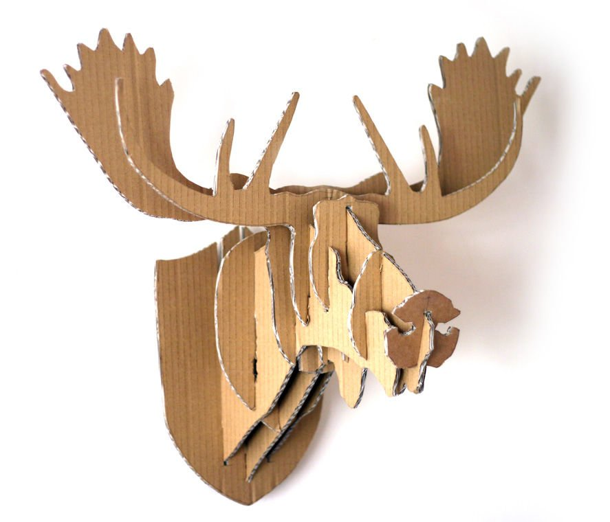 16 cardboard deer head ideas guide patterns for Free cardboard taxidermy templates