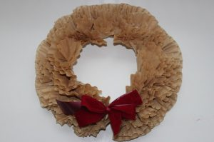 Cheap Coffee Filter Wreath