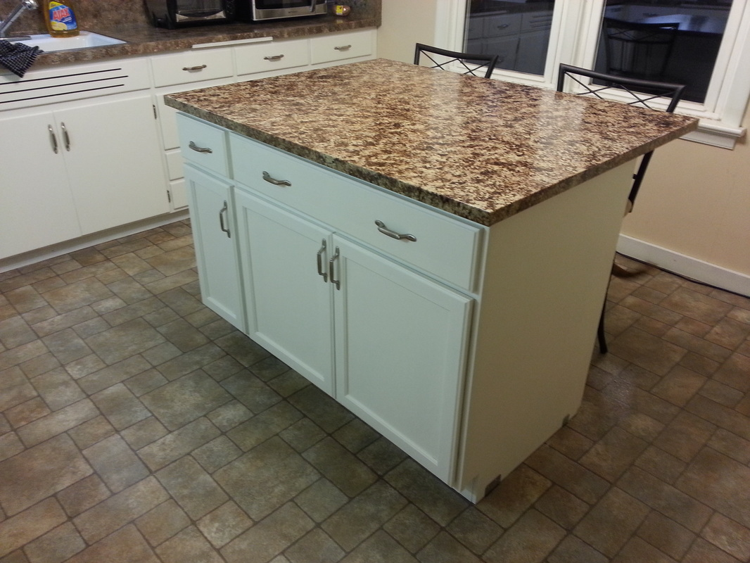 diy kitchen island from cabinets - Kitchen Island On Wheels