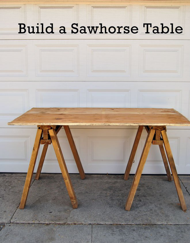 How To Make A Sawhorse Desk