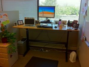 DIY Standing Desk Cubicle