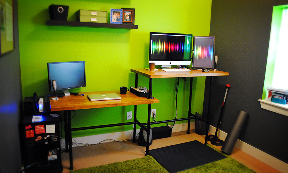21 diy standing or stand up desk ideas guide patterns diy standing home desk solutioingenieria Gallery