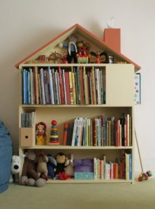 Dollhouse Wooden Bookcase