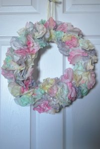 Easter Coffee Filter Wreath