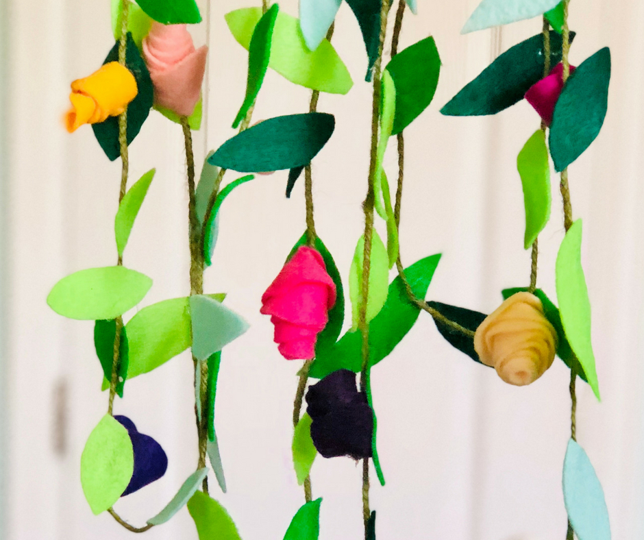 Felt Fabric Flower Garland