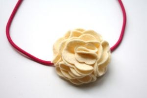 Felt Flower For Headband