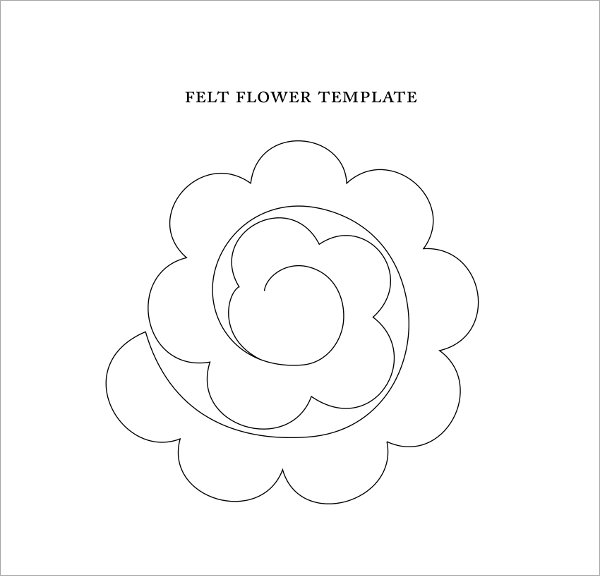 It is an image of Crafty Felt Flower Template Printable