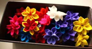 Felt Sewing Flowers