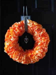 Foam Coffee Filter Wreath