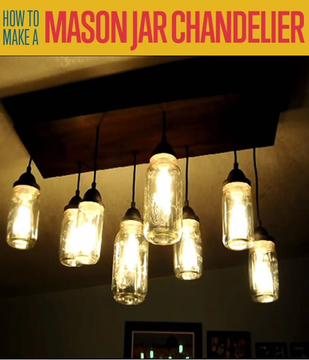 homemade mason jar chandelier build diy mason jar chandelier