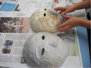 How To Make Paper Balloon Mache Mask Step By Step