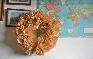 How to Make Coffee Filter Wreath