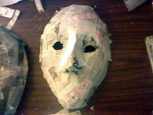 How to Make Paper Mache Masks On Your Face