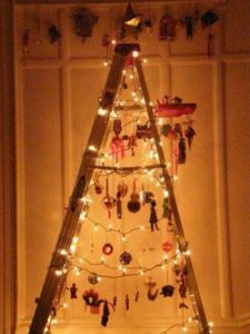 Ladder Wooden Christmas Tree