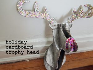 Large Cardboard Deer Head