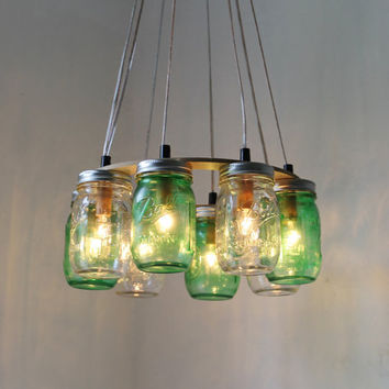 18 diy mason jar chandelier ideas guide patterns mason jar christmas chandelier mozeypictures Image collections