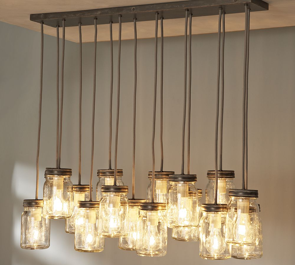 18 diy mason jar chandelier ideas guide patterns for Dining room table lighting fixtures