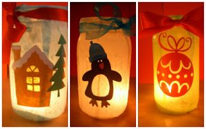 Mason Jar Lanterns Christmas