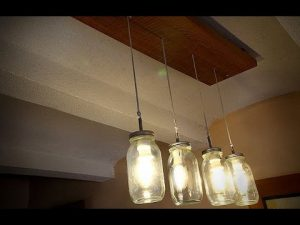 Mason Jar Light Fixture Chandelier