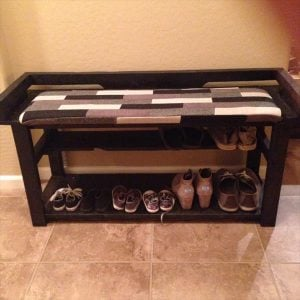 Pallet Shoe Rack DIY Project