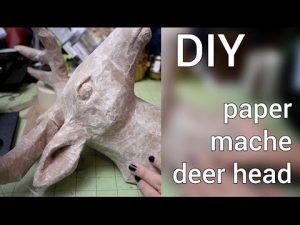 Paper Mache Deer Head DIY