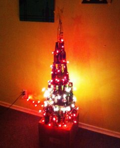 Picture of Wine Bottle Christmas Tree