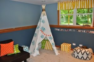Playroom DIY Teepee
