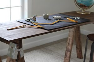 Sawhorse Bench Desk