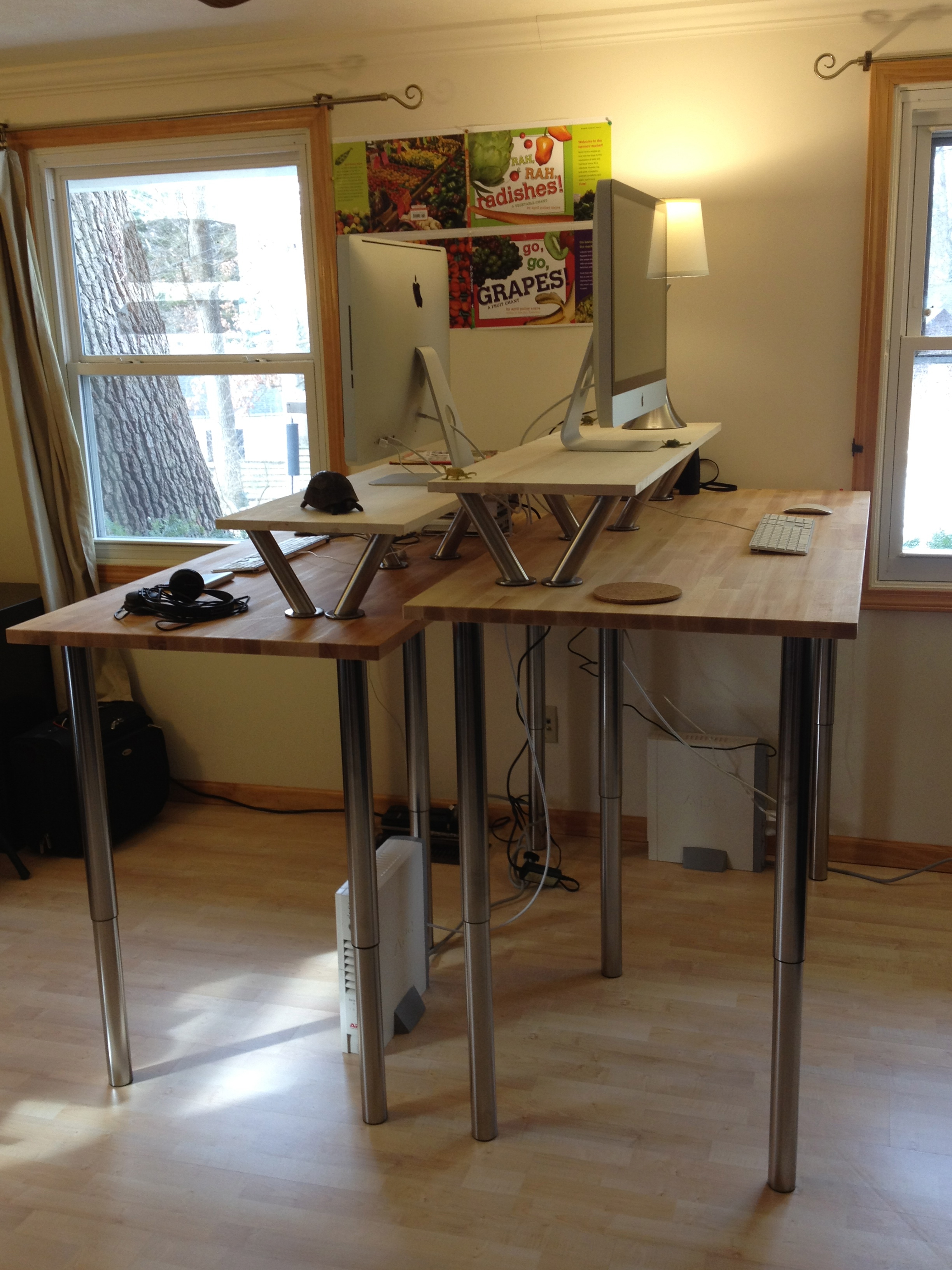Diy Standing Desk Ikea Creative Of Adjule The